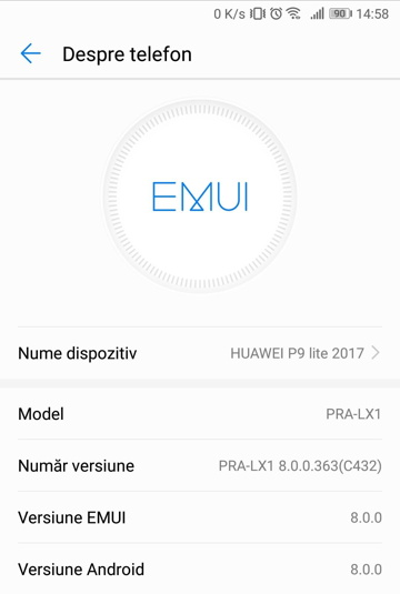 Huawei P9 Lite gets Android 8 0 Oreo EMUI 8 0 0 update – How