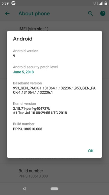 Install Android P 9 0 Developer Preview 5 GSI on Project