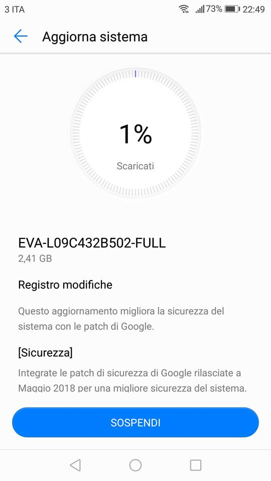 Download Hauwei P9 P9 Plus oreo update EMUI 8
