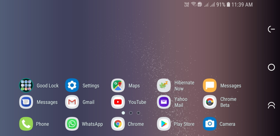 Samsung Experience Home Landscape mode