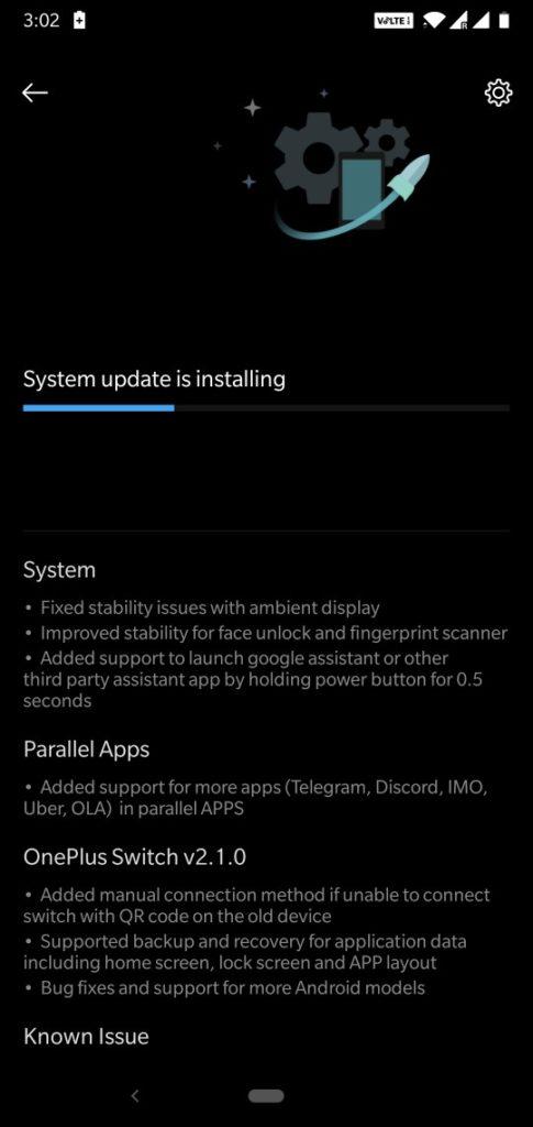 Downloading OnePlus 6 Open Beta 3