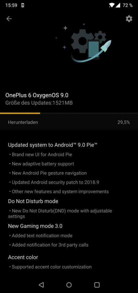 OnePlus 6 Oxygen OS 6.0 OTA download