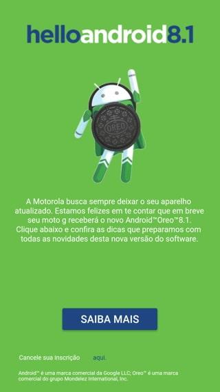 motorola push notification for android 8.1 oreo