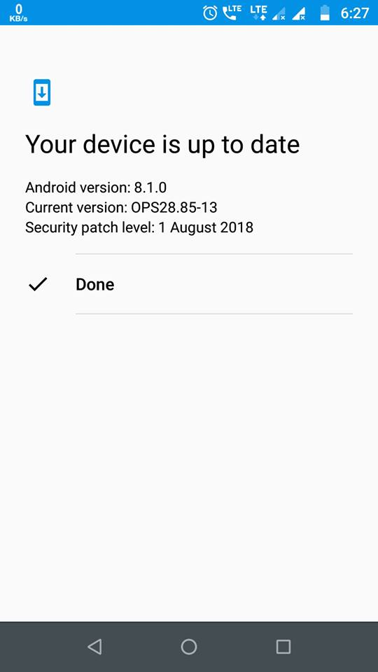 update Moto G5 Plus to official oreo 8.1 ota update