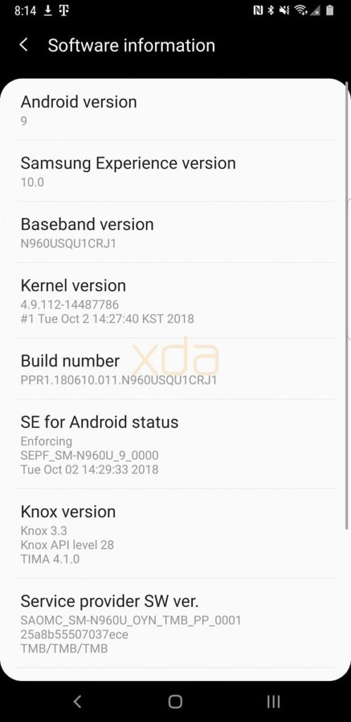 Download Android 9 0 Pie One UI Beta for Snapdragon Galaxy Note 9