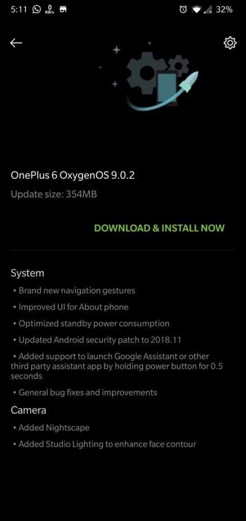 Download OnePlus 6 OxygenOS 9.0.2 OTA Update zip