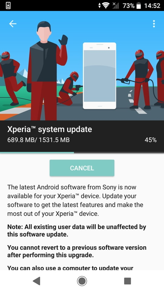 Sony Xperia XZ1 Android 9 Pie update