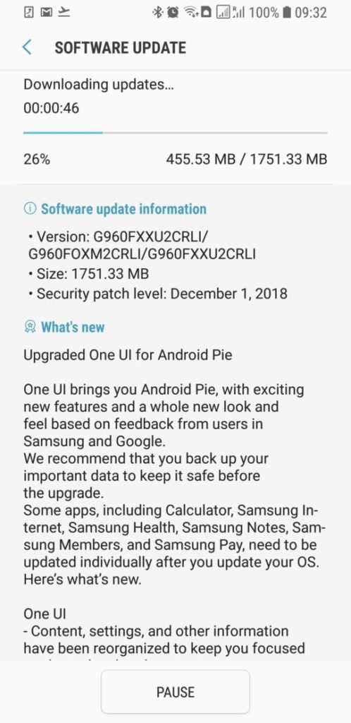 How to download Galaxy S9 and S9 Plus stable Android 9 Pie