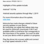 Moto G6 Android 9 Pie in United States USA