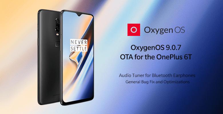 OxygenOS 9.0.7 OTA for the OnePlus 6T