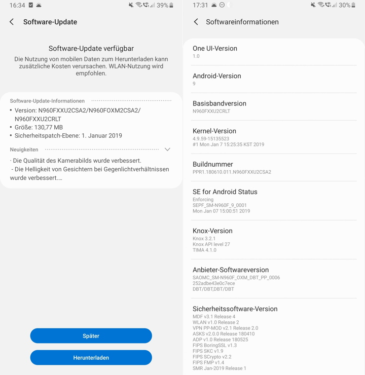 Exynos Note 9 full stock Odin firmware update N960FXXU2CSA2
