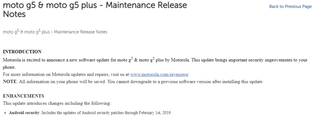 Moto G5, G5 Plus, and Moto Z3 receiving February 2019