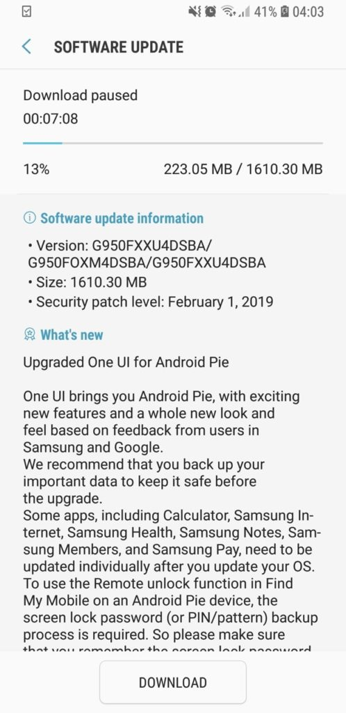 download Official Android 9 Pie for Galaxy S8 and S8 Plus-min