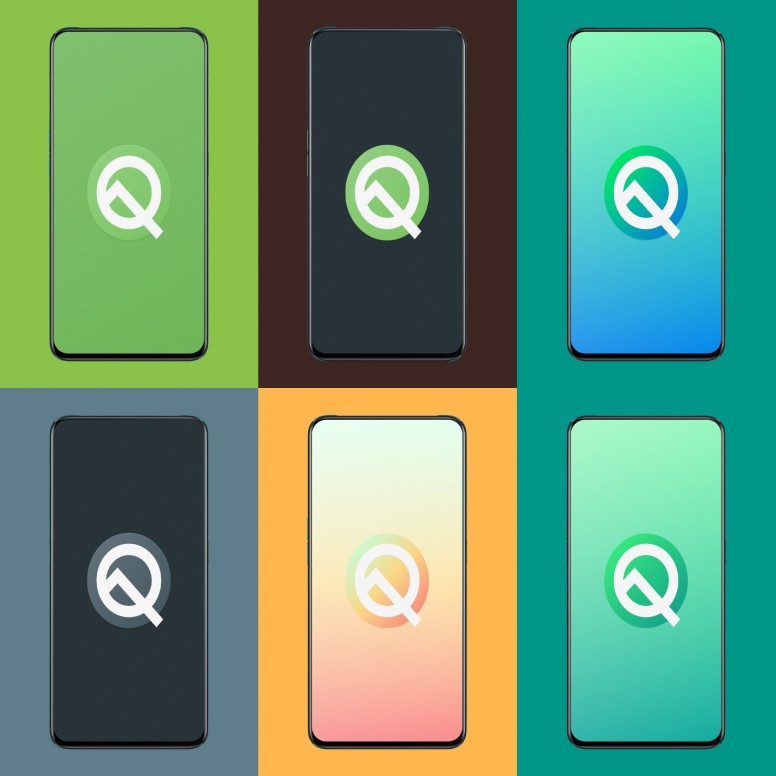 Android Q design wallpapers