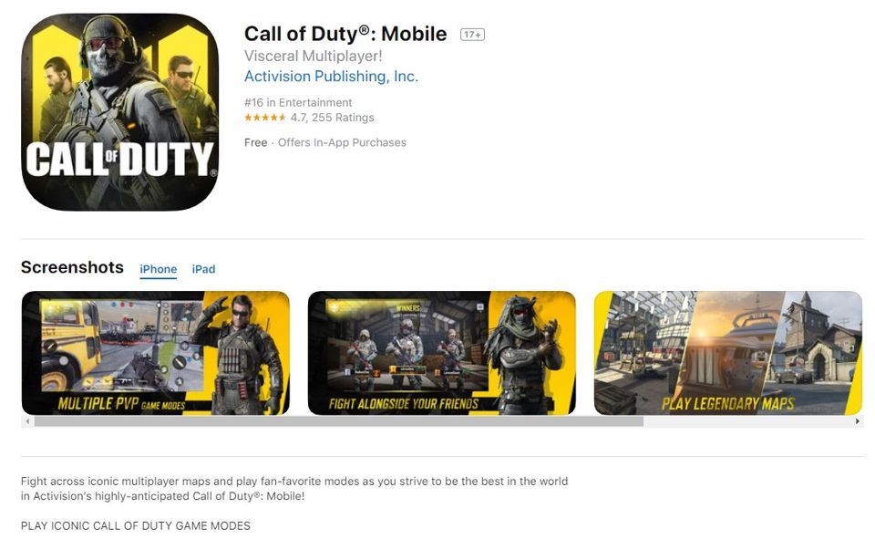‎Call of Duty_ Mobile on the App Store