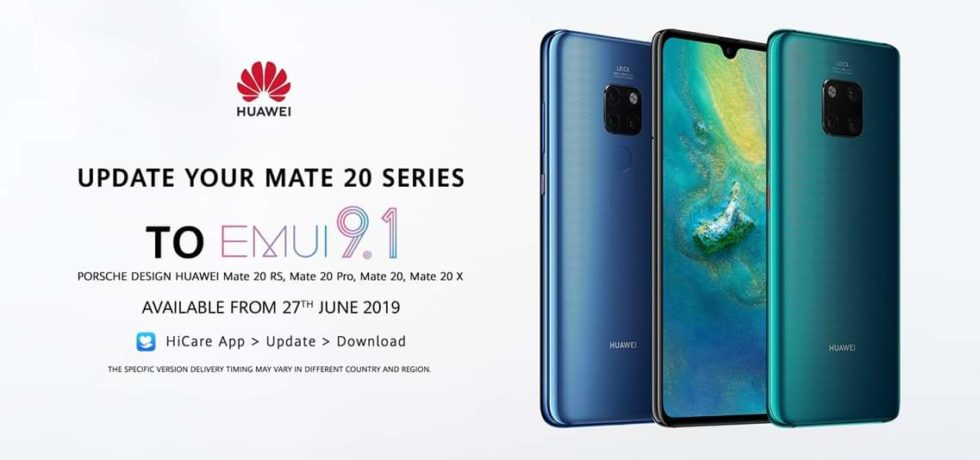 Download EMUI 9.1 for Huawei Mate 20 Pro, Mate 20 Lite, Mate 20 X, and RS Variants