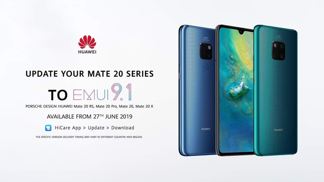 Download EMUI 9 1 for Huawei Mate 20 Pro, Mate 20 Lite, Mate
