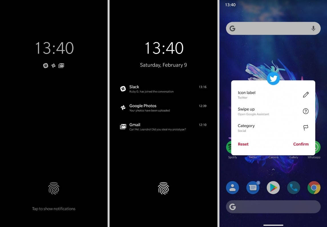 OxygenOS 10 based on Android Q screenshots