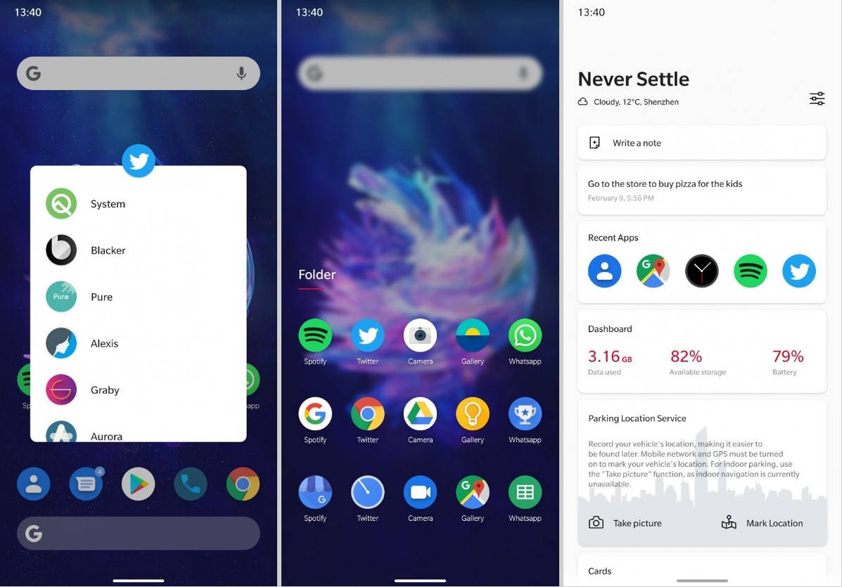 OxygenOS 10 based on Android Q