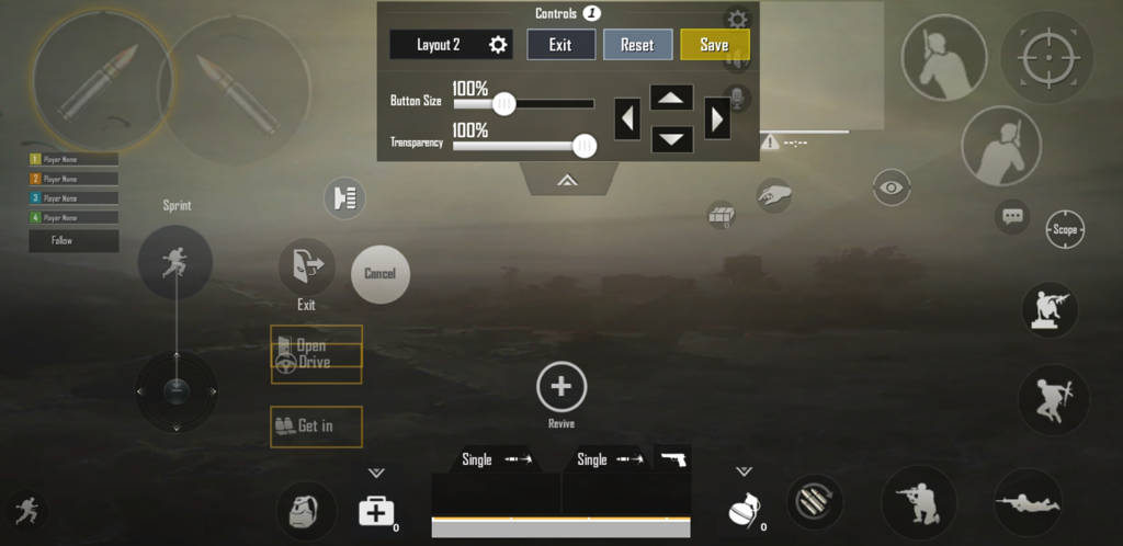 PUBG mobile control settings