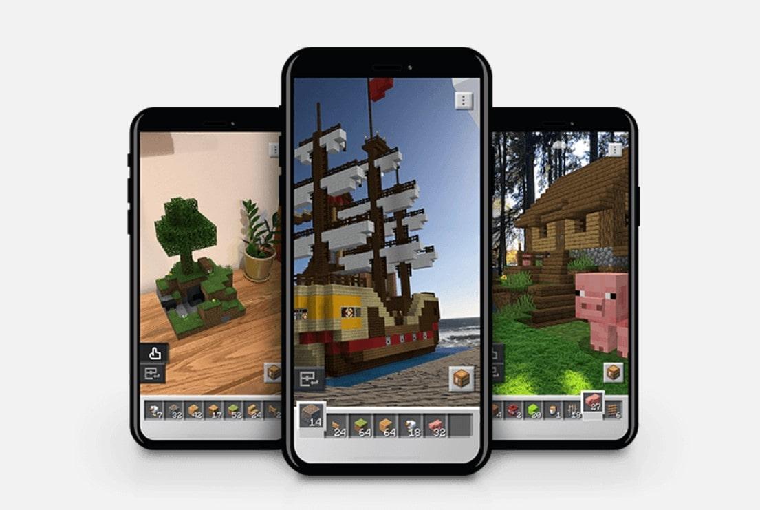 Minecraft Earth screenshots