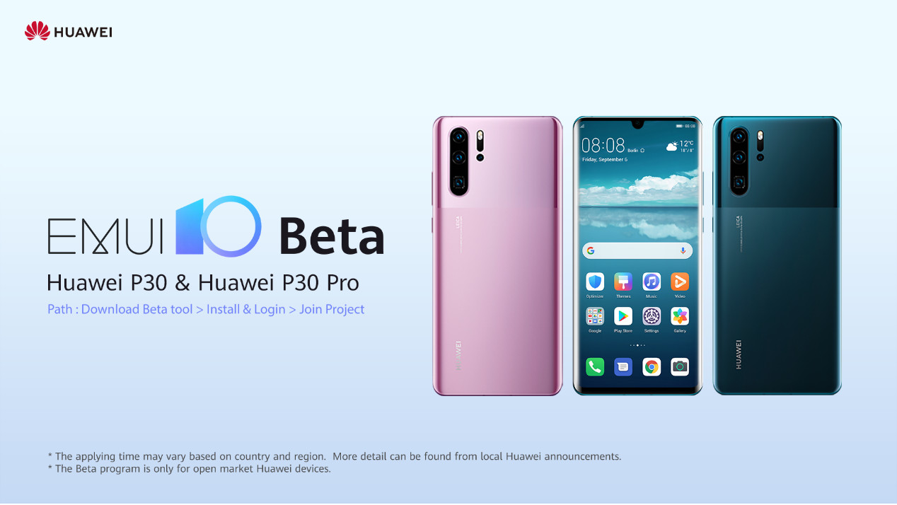EMUI 10 now available for Huawei P30 and P30 Pro for