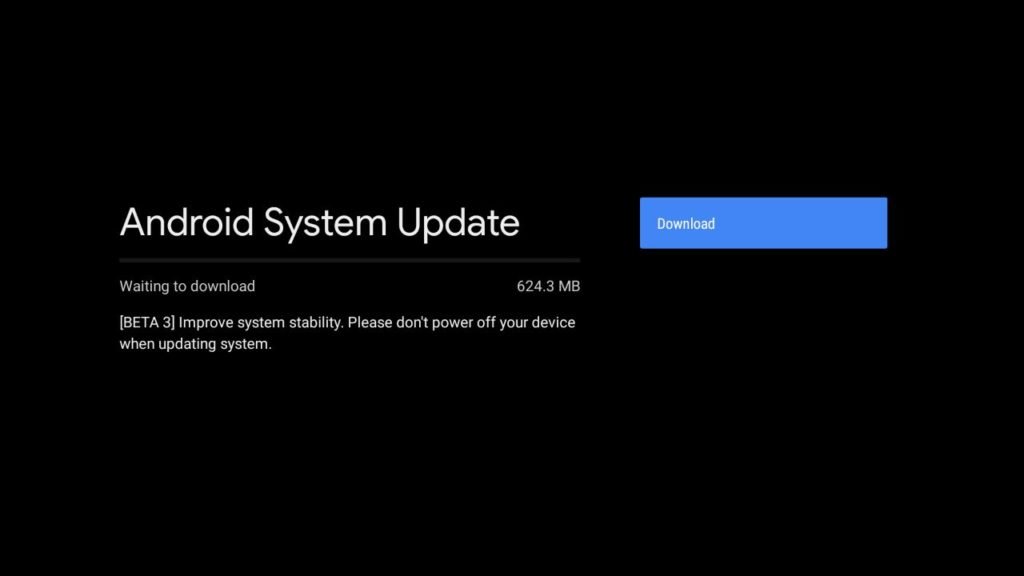 Mi Box S Android 9 Pie update
