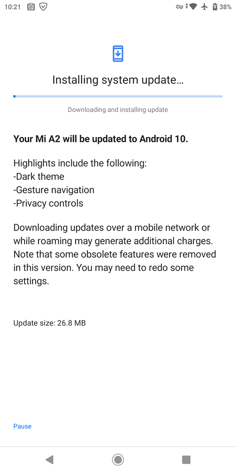 Android 10 HotFix for Xiaomi Mi A2 with latest March 2020 security patch level