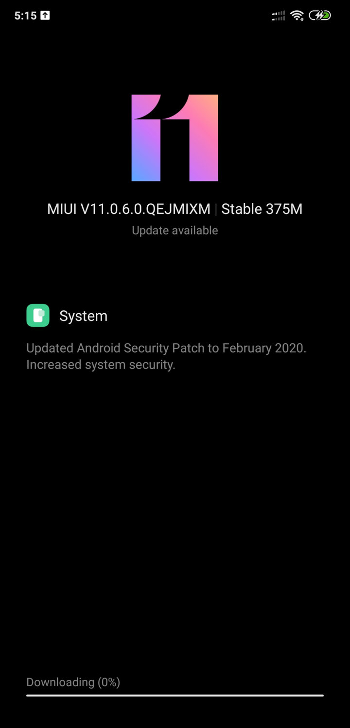 Xiaomi Poco F1 MIUI 11.0.6.0 OTA update download