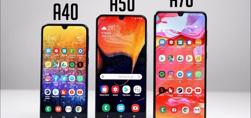 Galaxy A40,A50 and A70