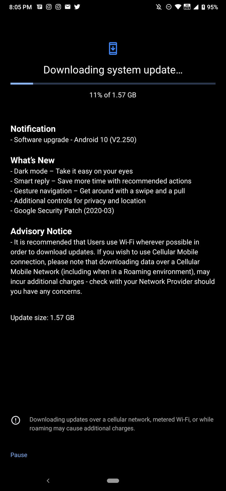 Android 10 for Nokia 7.2 ota download
