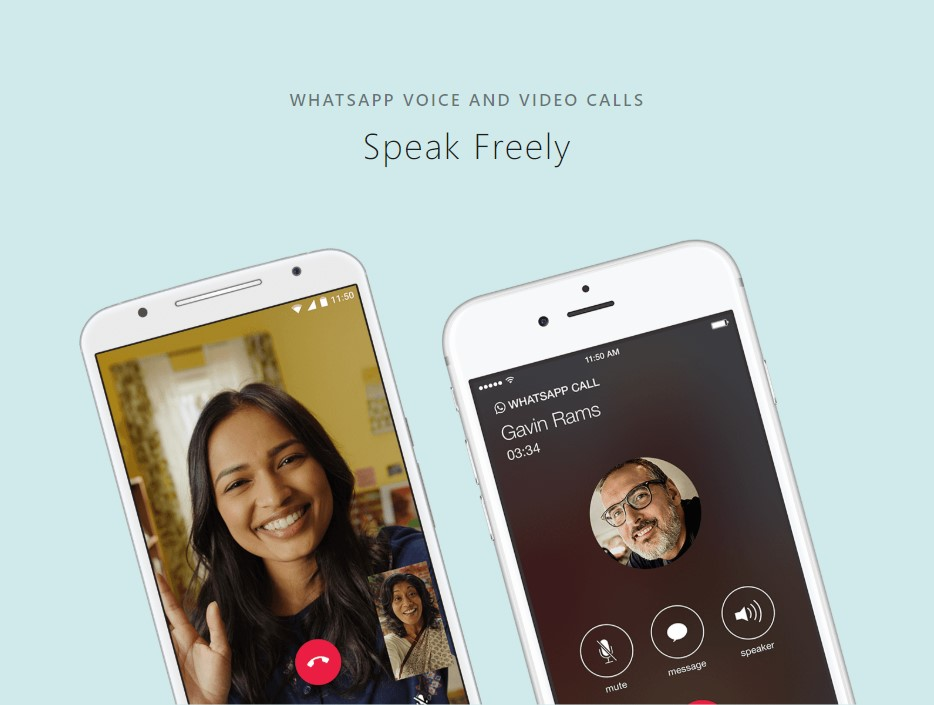 Download WhatsApp APK for Voice and Video Calls for up to 7 participants