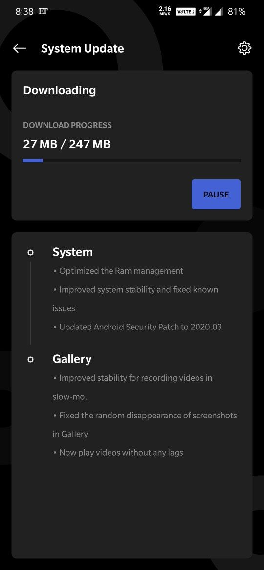 Oxygen OS 10.3.2 for oneplus 7T and 7T Pro