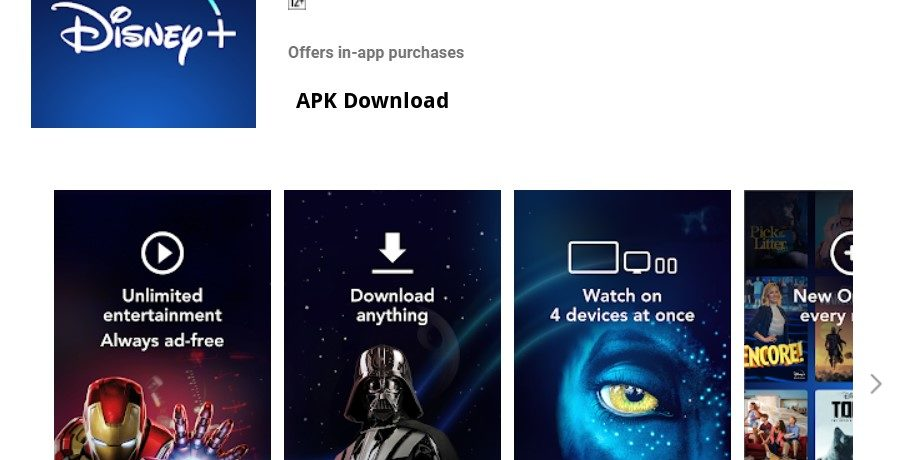 Disney+ latest version download in all languages split APK install