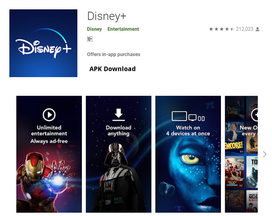 Disney+ latest version download in all languages split APK install