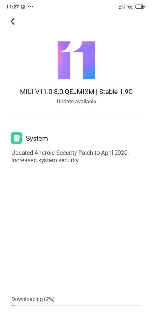 Download MIUI 11.0.8.0 OTA update for Poco F1