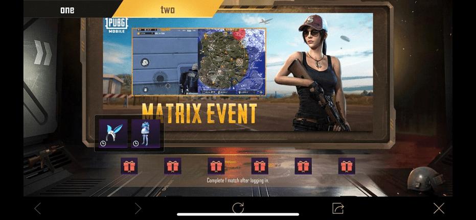 PUBG Mobile 1.2 matrix event